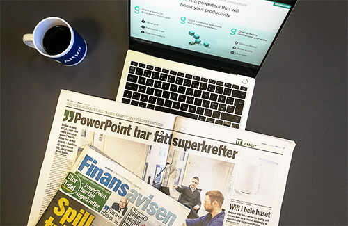 Illustration photo of a newspaper and laptop
